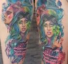 Lady Gaga Christin Colour Sabelink Tattoo